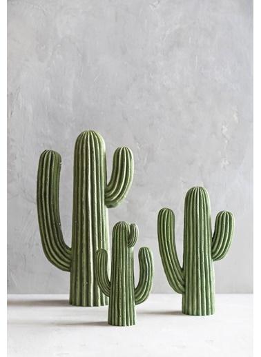 Warm Design Kaktüs Dekoratif Obje Yeşil